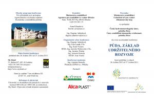Celostátní konference Půda, základ udržitelného rozvoje se bude konat v Lednici