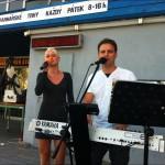 Martin Zezula s Anetou Koubkovou na Kulturním létu na schodech 2012 v Břeclavi