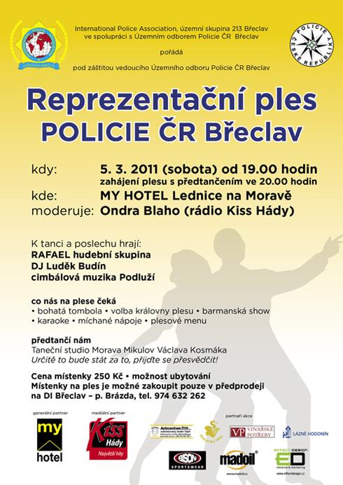 Pozvání na Policejní reprezentační ples 2011