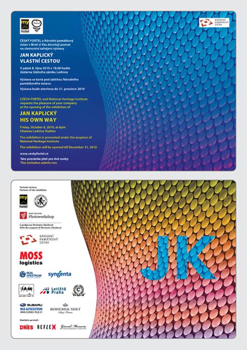 Pozvánka na slavnostní zahájení výstavy Jan Kaplický vlastní cestou do Lednice