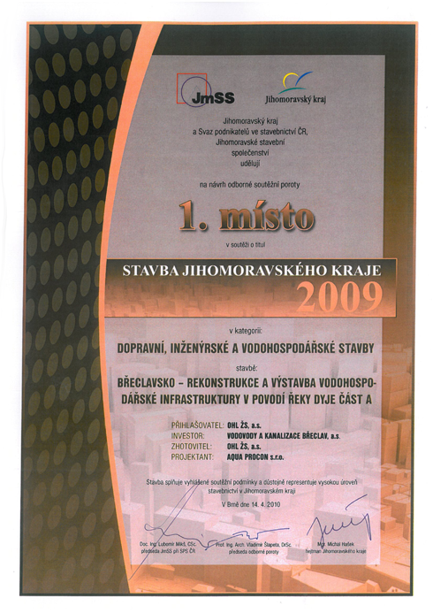 Stavba Jihomoravského kraje 2009