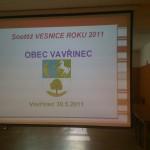 Vesnice roku Jihomoravského kraje 2011, Zlatá stuha, Obec Vavřinec