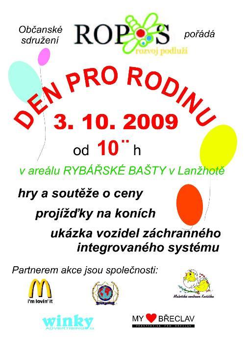 Zvu vás na akci Den pro rodinu 2009 do Lanžhota